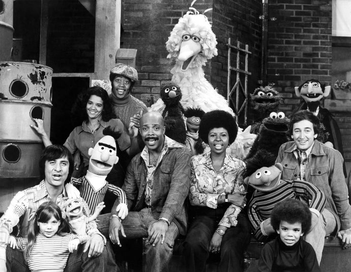 "The ""Sesame Street"" gang in 1969. Photograph by Sesame Workshop / Everett"