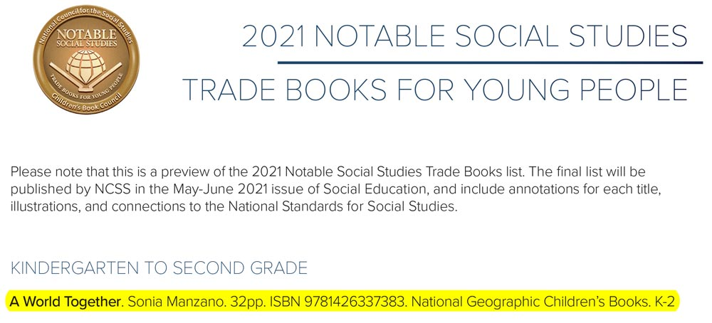 2021 Notable Social Studies Trade Books
