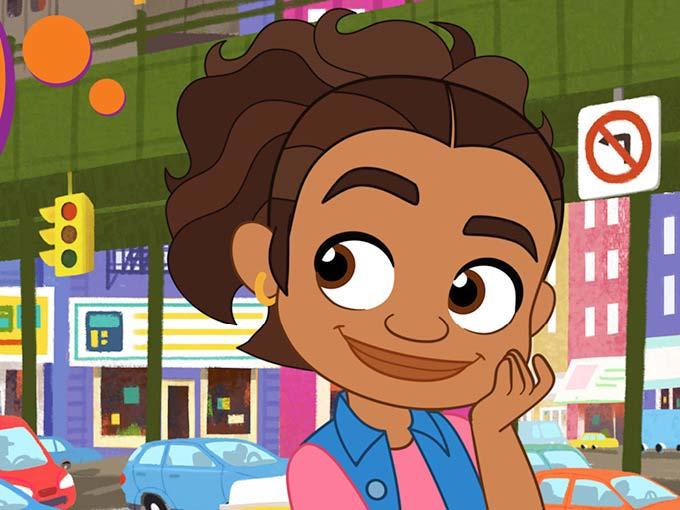 Cartoon character from new PBS series